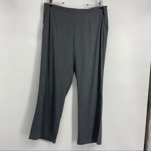 Eileen Fisher Linen Blend Size Large Gray Pants.
